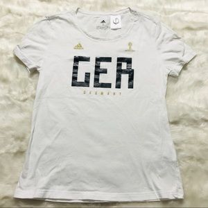 Adidas Germany World Cup Soccer T-shirt Small